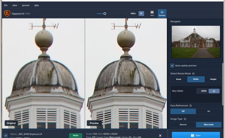 Topaz Labs Update to GigaPixel AI + Special Offer